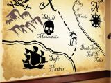 Pirate Treasure Map Wall Mural Map Mural Except I D Use the Map Of Neverland