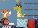 Pirate Treasure Map Wall Mural Pirate Fox and Alligator Wall Sticker Pack Pirate Wall Sticker Treasure island Wall Decal Pirate Wall Decal Kids Room Decor