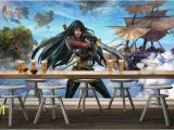 Pirate Wallpaper Murals Us $28 56 Off Customize 3d Photo Wallpaper 3d Modern Hero League Lol Pirate Backdrop 3d Wallpaper for Walls Wallpaper for Living Room In