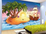 Pirate Wallpaper Murals Us $9 65 Off Custom 3d Wallpaper Cartoon Pirate Ship Mural Children S Room Kindergarten Lovely Decor Wallpaper Papel De Parede Infantil In
