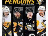"Pittsburgh Penguins Wall Murals Turner Licensing Monthly Wall Calendar 12"" X 12"" Pittsburgh Penguins 2020 Item"