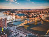 Pittsburgh Skyline Wall Mural City Wall Murals Big City Wallpaper Murals Best Prices