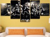 Pittsburgh Steelers Wall Murals Pittsburgh Steelers Nation 5 Pcs Paint Printed Sport Canvas