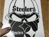 Pittsburgh Steelers Wall Murals Pittsburgh Steelers Skull Decal for Laptop Window Tablet Car or Wall