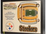 Pittsburgh Steelers Wall Murals Pittsburgh Steelers Wooden 25 Layer Stadiumview 3d Wall Art