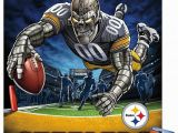 "Pittsburgh Steelers Wall Murals Trends International Nfl Pittsburgh Steelers End Zone Mount Wall Poster 22 375"" X 34"" Poster & Mount Bundle"