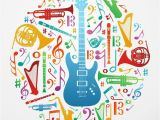 Pixers Wall Murals Reviews Love for Music Concept Illustration Background Wall Mural Vinyl