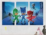 Pj Mask Wall Mural Amazon Pj Masks Gekko Catboy Owlette Battle 3d Sticker