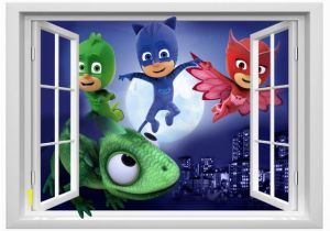 Pj Masks Wall Mural Pj Masks Wall Sticker Fnaf Decal Stickers Children Kids 3d Art Wall Decals 50cmx70cm Pj Masks Wall Decals Pj Masks Wall Decals