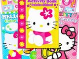 Plane Coloring Pages Hello Kitty Hello Kitty Set Of 3 Jumbo Coloring and Activity Books with Stickers for Kids Girls Boys