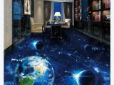 Planet Earth Wall Mural 3d Custom Self Adhesive Waterproof Photo Floor Mural Wallpaper Universe Galaxy Earth 3d Bathroom Living Room Floor Tiles
