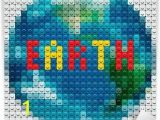 Planet Earth Wall Mural Planet Earth Outline Made From Mosaic Vector Eps10 Image