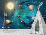 Planet Earth Wall Mural Wdbh 3d Wallpaper Custom Hand Painted Space Universe Children S Room Tv Background Home Decor 3d Wall Murals Wallpaper for Walls 3 D Wallpaper