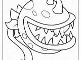 Plants Vs Zombies Coloring Pages Games Plants Vs Zombies Chomper Pdf Coloring Page