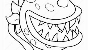 Plants Vs Zombies Coloring Pages Pdf Plants Vs Zombies Chomper Pdf Coloring Page