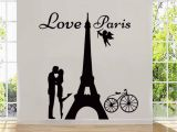 Plaster Of Paris Wall Murals New Design Angels Love Paris Wall Decals Lover Kissing and Bike Home