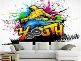 Platin Art Wall Mural Wallpaper Silk Cloth Custom Mural Colorful Music Dance Art Graffiti