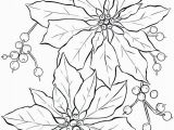 Poinsettia Coloring Page Poinsettia Line Art Christmas Card Ideas