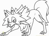 Pokemon Sun and Moon Coloring Pages Lycanroc Midday form Pokemon Sun and Moon