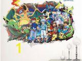 Pokemon Wall Mural Uk Hot 3d Pikachu Pokemon Go Sticker Baby Room Fice Party Decors