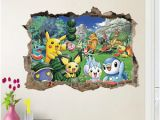 Pokemon Wall Mural Uk Pokemon Pikachu Mural Wall Decals Sticker Child Room Removable
