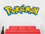 Pokemon Wall Mural Uk Removable Pokemon Mural Wall Sticker Diy Word Art Decal Pvc Kids
