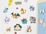 Pokemon Wall Mural Uk Removable Wall Art Stickers Amazon