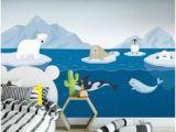 Polar Bear Wall Mural Die 44 Besten Bilder Von Arctic Nursery Arktis