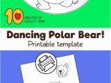 Polar Express Printable Coloring Pages Dancing Polar Bear Craft
