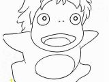 Ponyo Printable Coloring Pages Ponyo Coloring Pages Party Pinterest