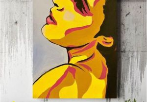 Pop Art Wall Mural Hand Painted Canvas Wall Art Woman Face Canvas Painting Picture Canvas Wall Fashion Image Woman Abstraction Face Pop Art Face Pop Art