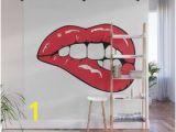 Pop Art Wall Mural Red Lips Pop Art Wall Mural