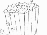 Popcorn Bucket Coloring Page Popcorn Coloring Pages to and Print for Free