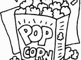 Popcorn Coloring Pages for Kids Coloring Pages Of Popcorn Specially for Kids