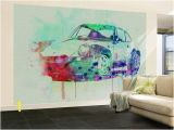 Porsche Wall Mural Porsche 911 Watercolor 2 Wall Mural by Naxart at Allposters