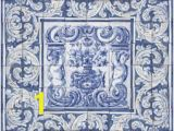 Portuguese Tile Murals Portuguese Traditional Clay Tiles Azulejos Mural Panel Flower
