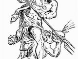 Poseidon Greek God Coloring Pages Poseidon Coloring Page