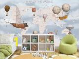 Pottery Barn Kids World Map Wall Mural Kids World Map 3d Wallpaper Wall Mural Wall Sticker