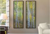 Pottery Barn Wall Mural Framed Birch Tree Mural From Pottery Barn