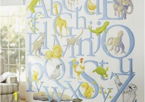 Pottery Barn Wall Murals Statement Wall Gender Neutral Nursery Ideas