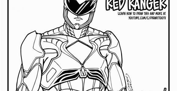 Power Rangers Red Ranger Coloring Pages Red Ranger Power Rangers [2017] Movie