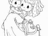 Precious Moments Bride and Groom Coloring Pages Dress Bride Groom Coloring Pages