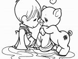 Precious Moments Coloring Pages Printable Color Page Of Child with Bear Precious Moments Baby Coloring Pages