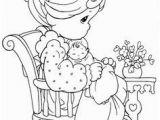 Precious Moments Mothers Day Coloring Pages Mamá Cuidando A Recién Nacido Para Colorear