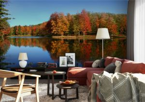 Prepasted Wall Murals Stunning Autumn Lake Mural From Grafix S Etsy Page