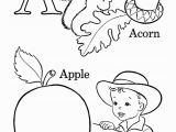 Preschool Apple Coloring Pages Abc Coloring Pages