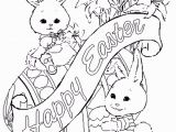 Preschool Bunny Coloring Pages Image Detail for Cute Easter Coloring Pages Letter