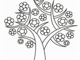 Preschool Coloring Pages for Spring Spring Tree Colouring Page