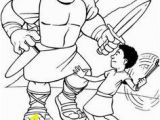 Preschool David and Goliath Coloring Page 105 Best Church Images On Pinterest In 2018
