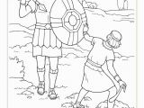 Preschool David and Goliath Coloring Page Coloring Pages